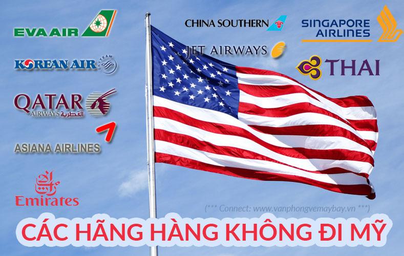 Các hãng hàng không đi Mỹ