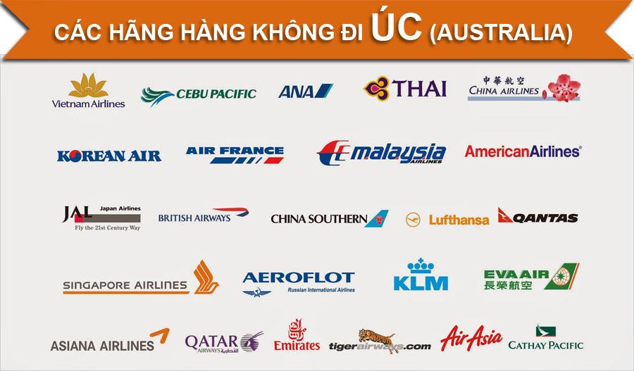 Các hãng hàng không đi Úc