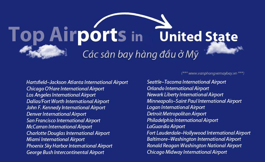 Các sân bay ở Mỹ