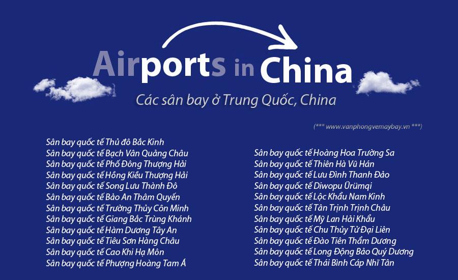 Các sân bay ở Trung Quốc