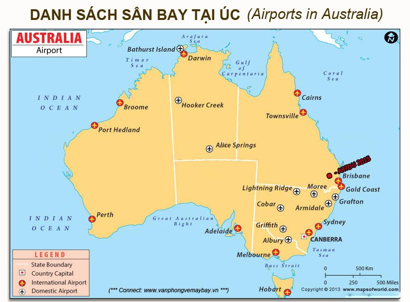 Các sân bay ở Úc