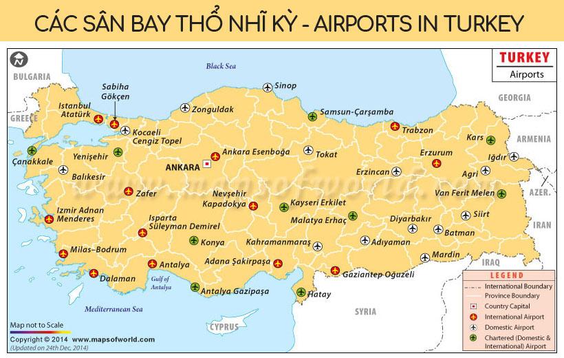 Các sân bay Thổ Nhĩ Kỳ