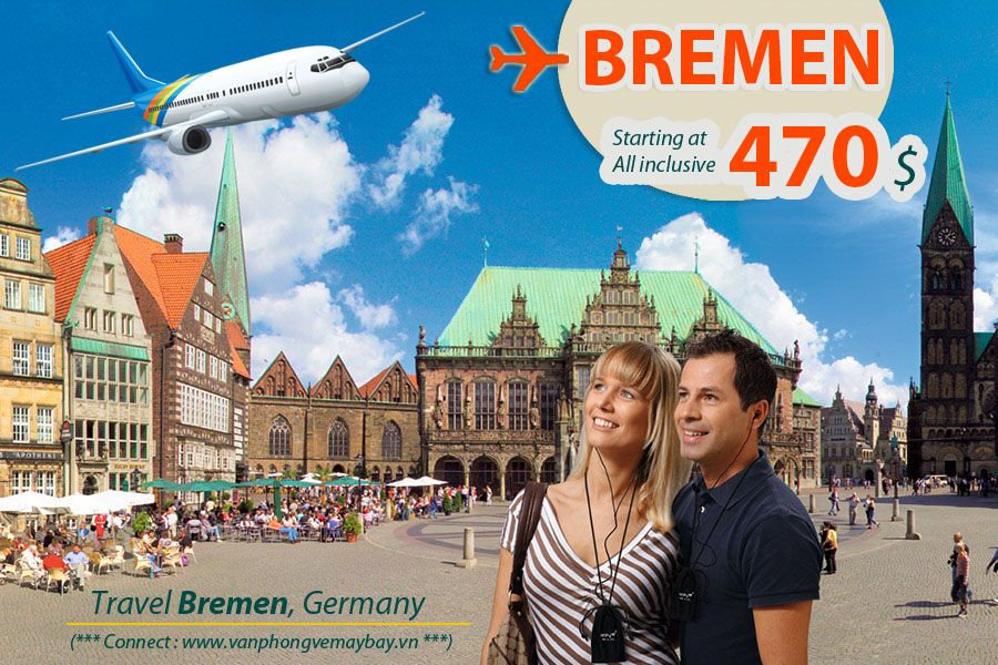 Đặt mua vé máy bay đi Bremen