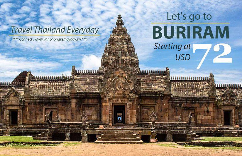 Đặt vé máy bay đi Buriram (Thái Lan) giá rẻ