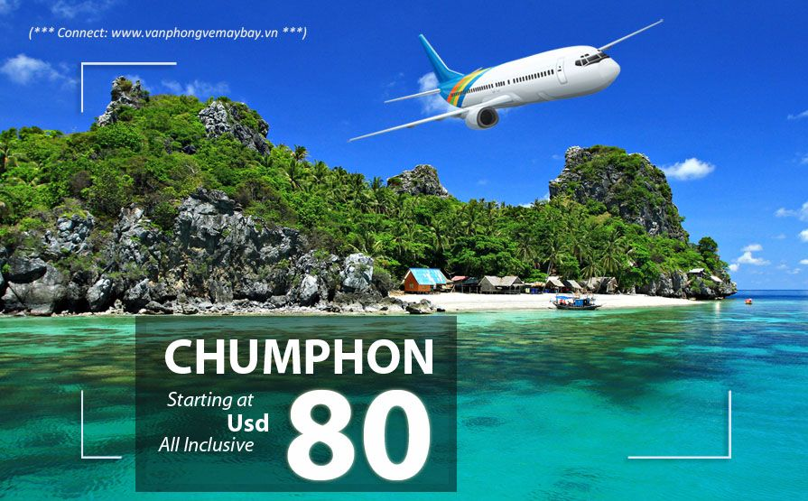 Đặt vé máy bay đi Chumphon (Thái Lan) giá rẻ