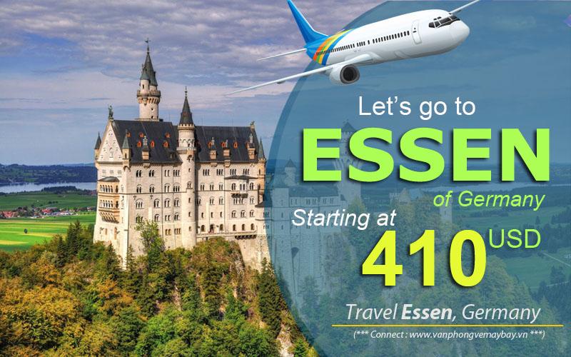 Đặt vé máy bay đi Essen (Đức) giá rẻ