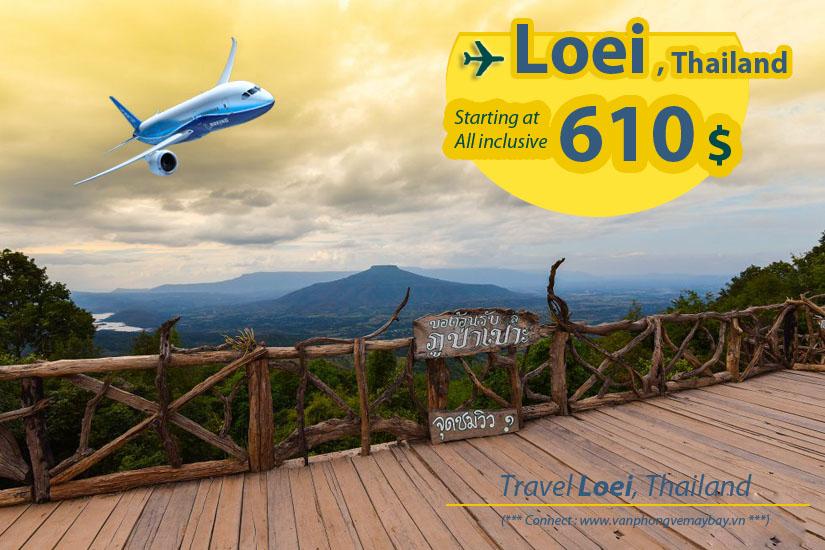 Đặt vé máy bay đi Loei (Thái Lan) giá rẻ