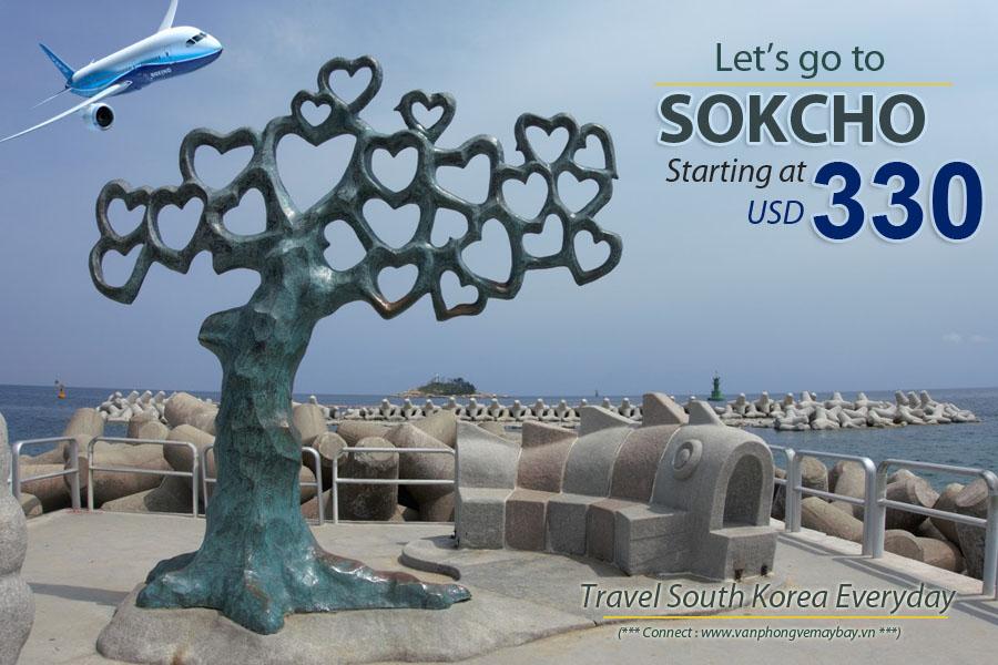 Đặt vé máy bay đi Sokcho (Hàn Quốc) giá rẻ