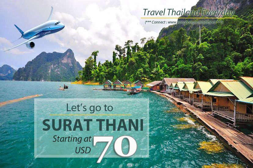 Đặt vé máy bay đi Surat Thani (Thái Lan) giá rẻ