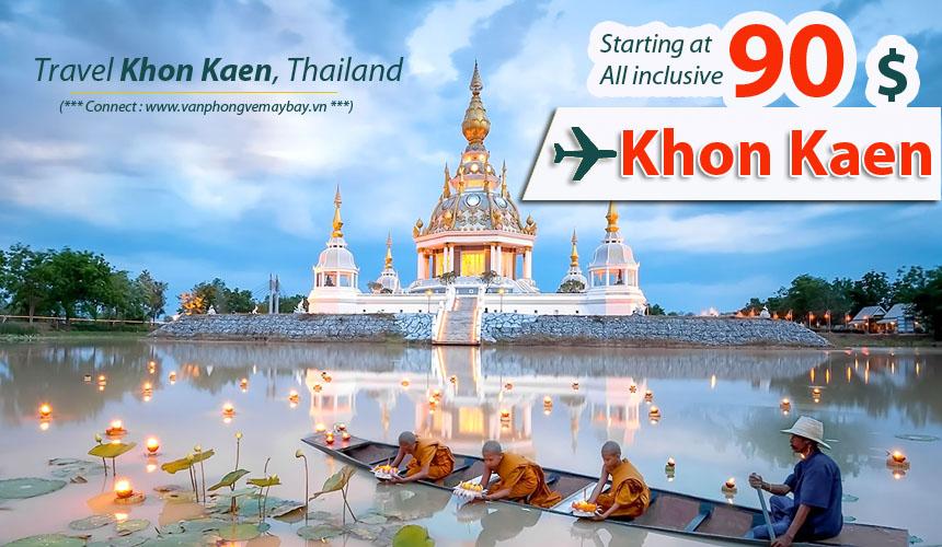 Đặt vé máy bay đi Khon Kaen (Thái Lan) giá rẻ