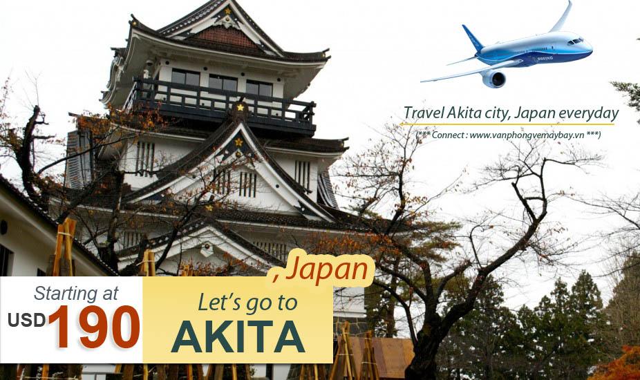Đặt vé máy bay đi Akita (Nhật Bản) giá rẻ