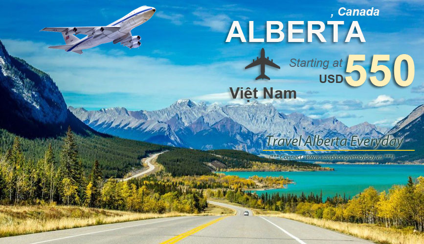 Đặt vé máy bay đi Alberta (Canada) giá rẻ