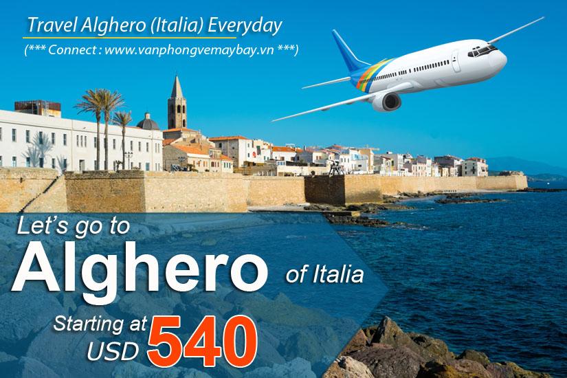 Đặt vé máy bay đi Alghero (Italia) giá rẻ