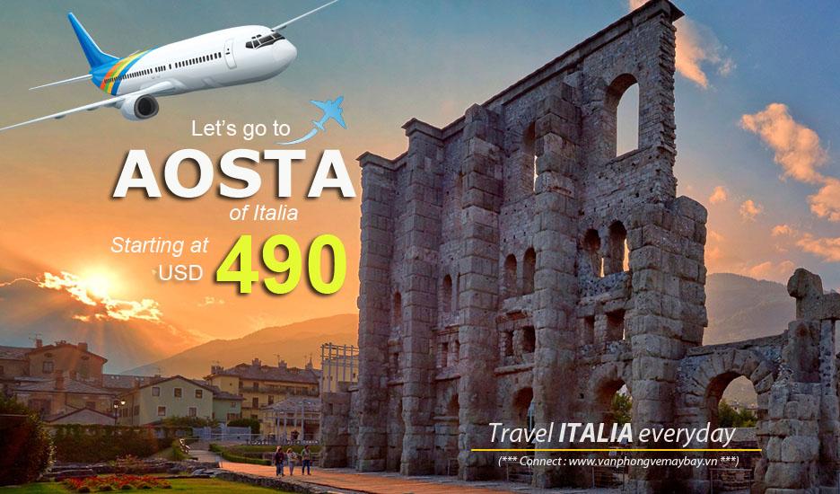 Đặt vé máy bay đi Aosta (Italia) giá rẻ