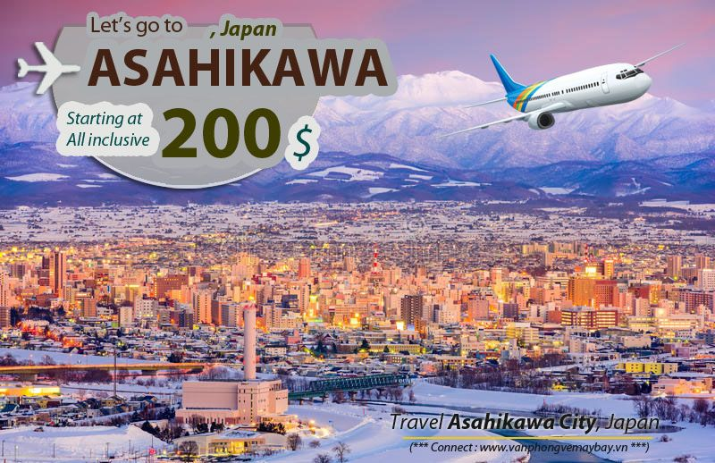 Ve may bay di Asahikawa