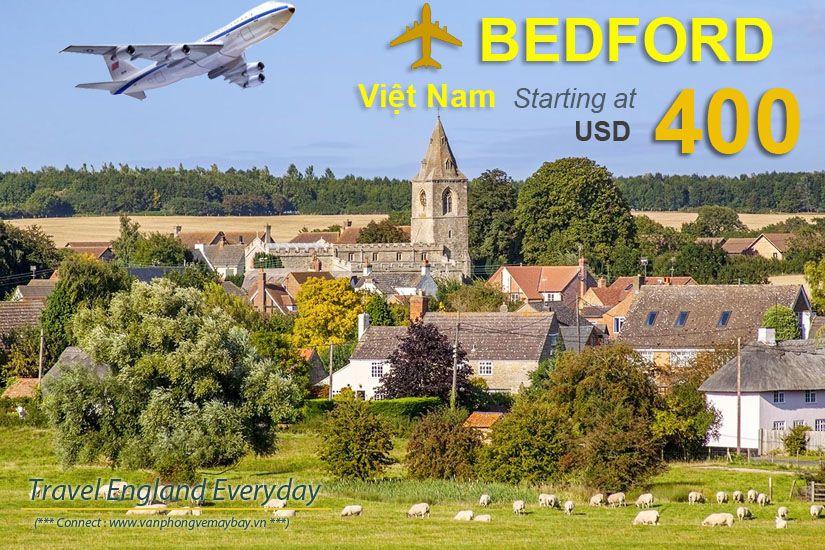 Đặt vé máy bay đi Bedford (Anh) giá rẻ