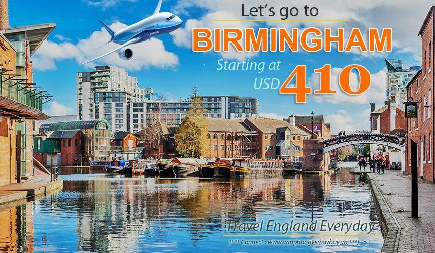 Đặt vé máy bay đi Birmingham (Anh) giá rẻ