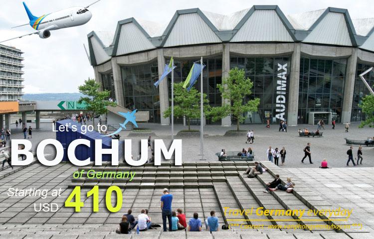 Đặt vé máy bay đi Bochum (Đức) giá rẻ