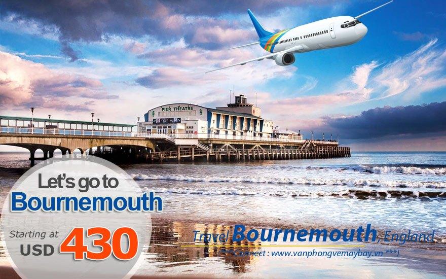Đặt vé máy bay đi Bournemouth (Anh) giá rẻ