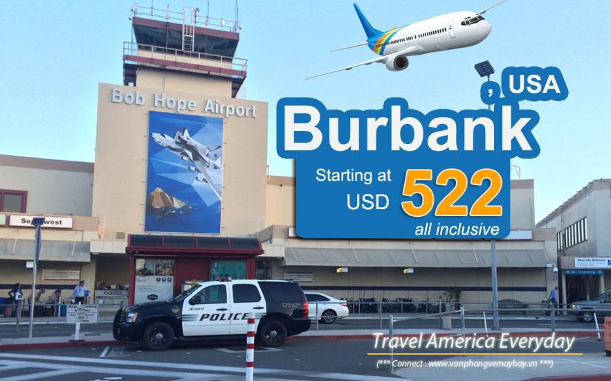 Đặt vé máy bay đi Burbank (California) giá rẻ