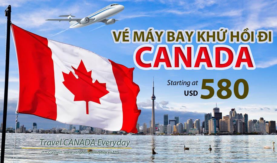 Vé máy bay đi Canada khứ hồi