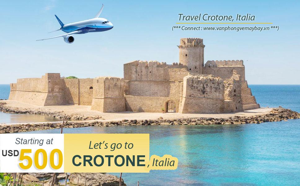 Đặt vé máy bay đi Crotone (Italia) giá rẻ