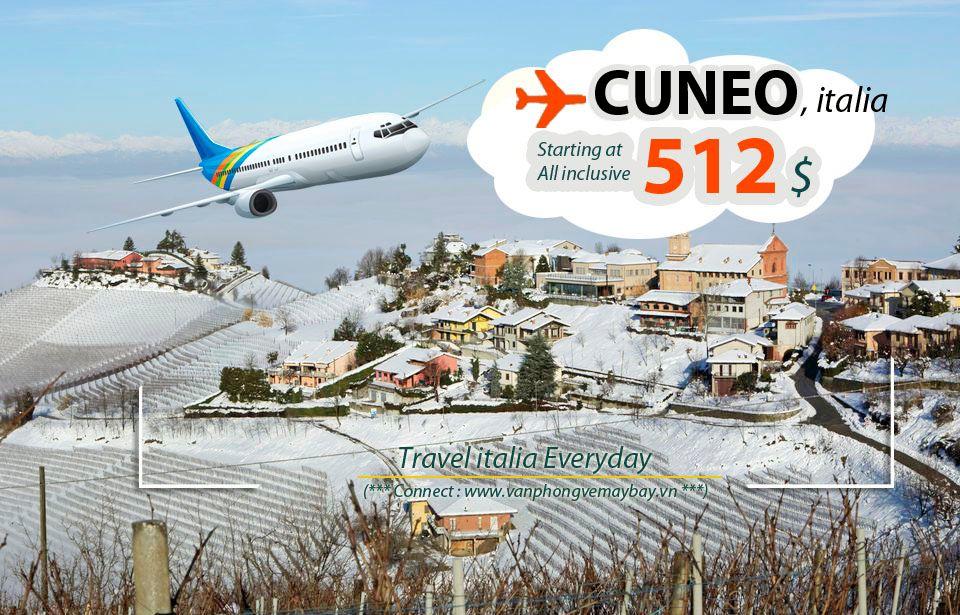 Đặt vé máy bay đi Cuneo (Italia) giá rẻ