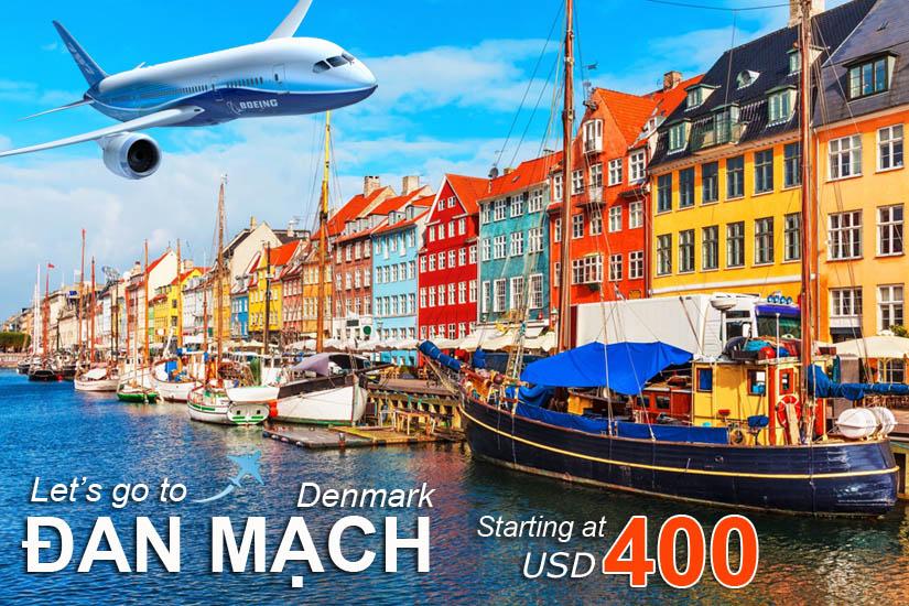 Đặt vé máy bay đi Đan Mạch (Denmark) giá rẻ