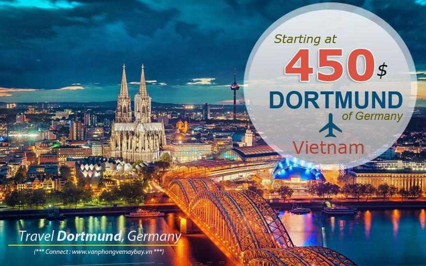 Đặt vé máy bay đi Dortmund (Đức) giá rẻ