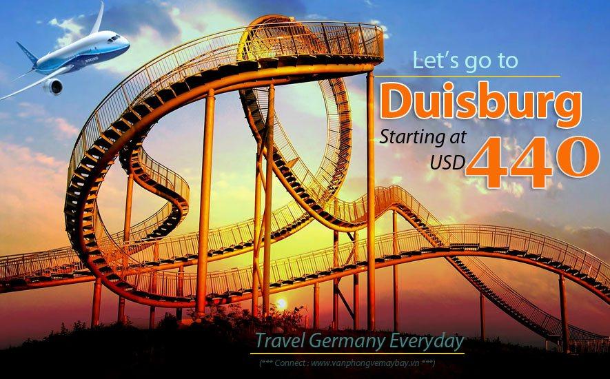 Đặt vé máy bay đi Duisburg (Đức) giá rẻ