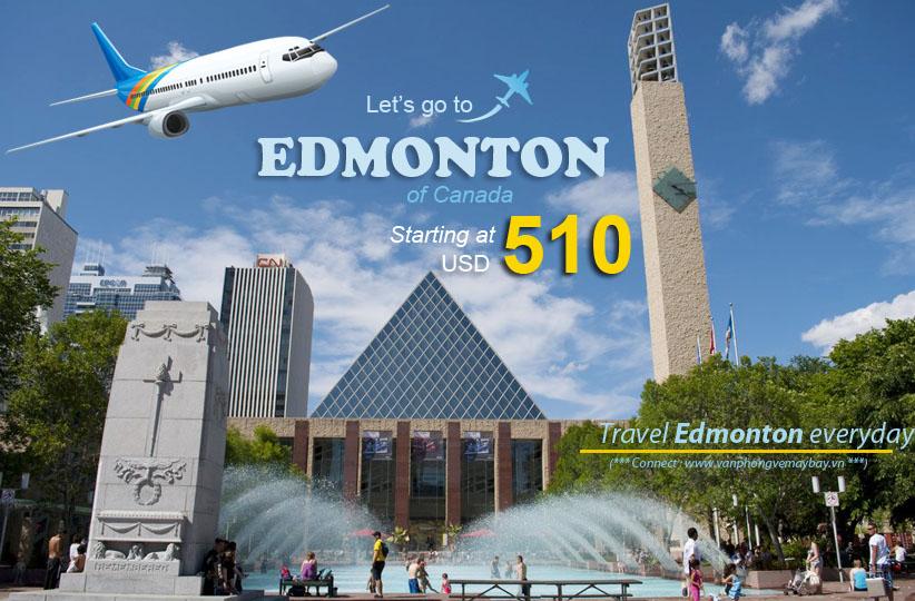 Vé máy bay giá rẻ đi Edmonton Canada