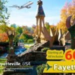 Vé máy bay đi Fayetteville