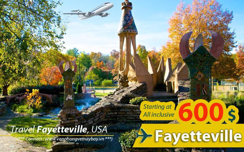 Đặt vé máy bay đi Fayetteville (Arkansas) giá rẻ