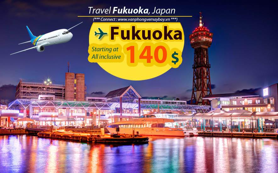 Đặt vé máy bay đi Fukuoka (Nhật Bản) giá rẻ