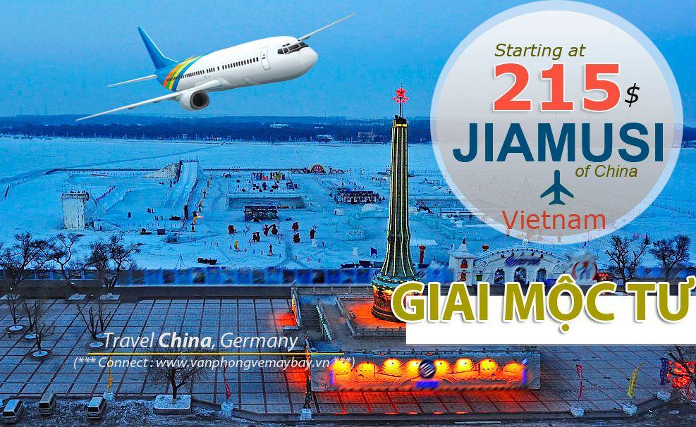 Đặt vé máy bay đi Giai Mộc Tư (Jiamusi) giá rẻ