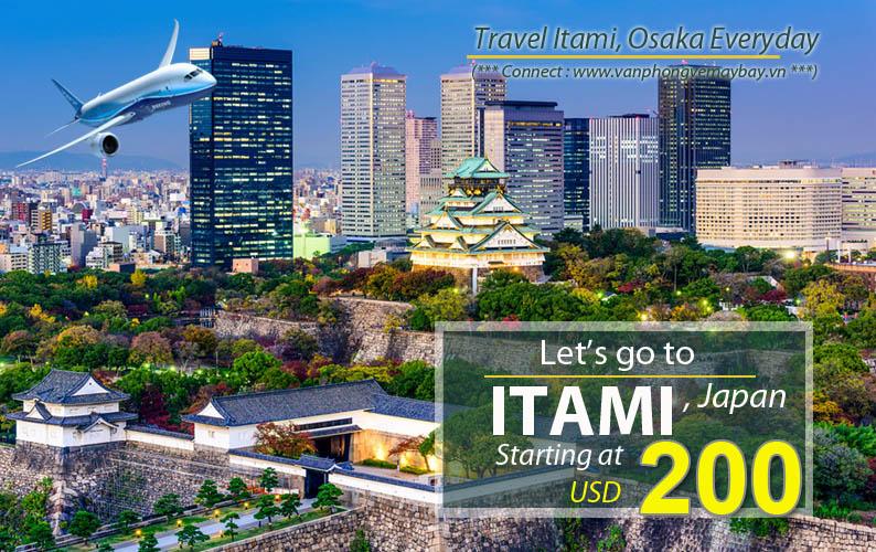 Đặt vé máy bay đi Itami (Nhật Bản) giá rẻ