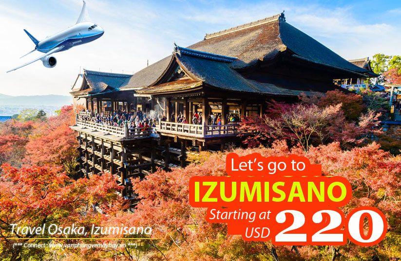 Đặt vé máy bay đi Izumisano (Nhật Bản) giá rẻ
