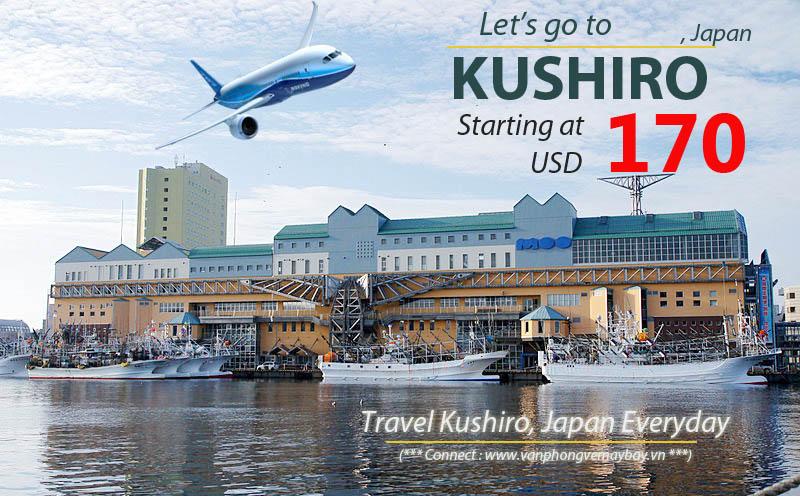 Đặt vé máy bay đi Kushiro (Nhật Bản) giá rẻ