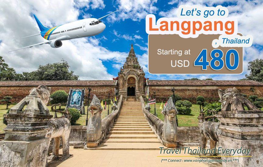 Đặt vé máy bay đi Lampang (Thái Lan) giá rẻ