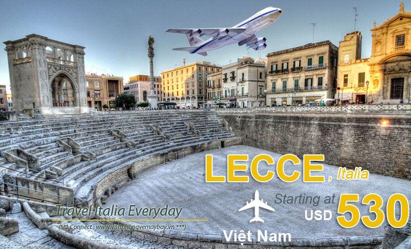 Đặt vé máy bay đi Lecce (Italy) giá rẻ