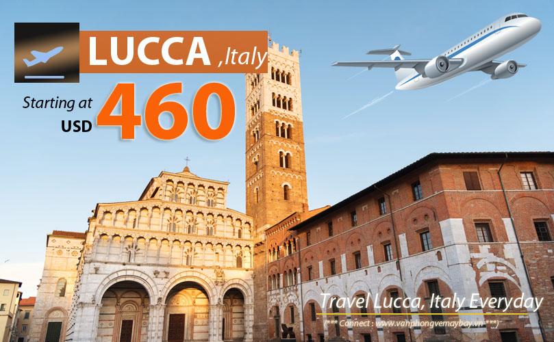 Đặt vé máy bay đi Lucca (Italia) giá rẻ