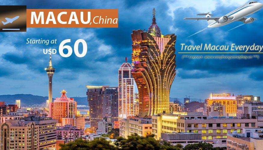 Ve may bay di Macau gia re