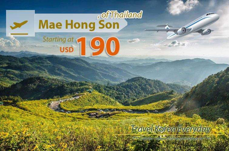 Đặt vé máy bay đi Mae Hong Son (Thái Lan) giá rẻ