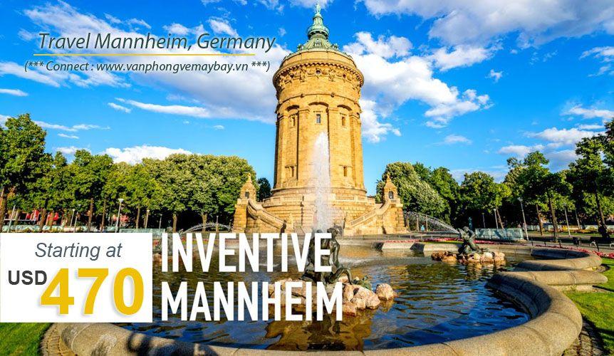 Đặt vé máy bay đi Mannheim (Đức) giá rẻ
