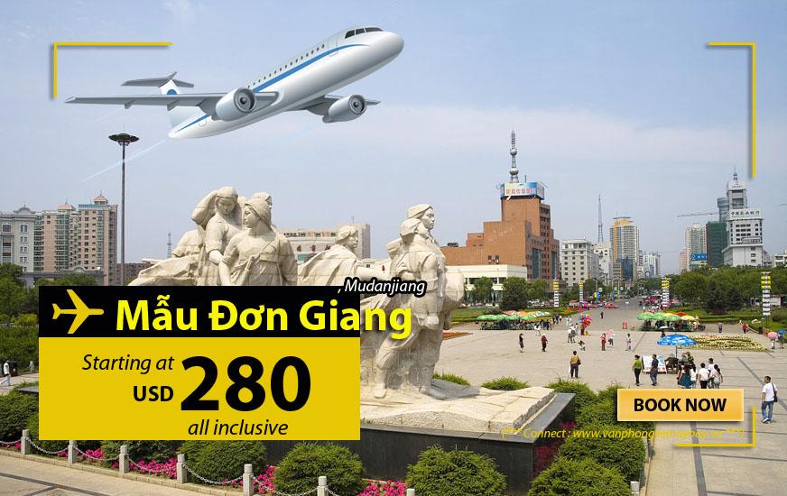 Đặt vé máy bay đi Mẫu Đơn Giang (Mudanjiang)