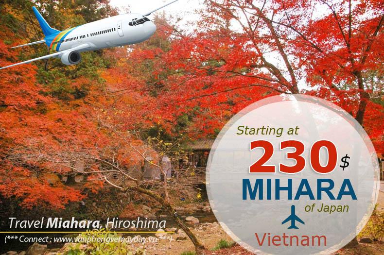 Đặt vé máy bay đi Mihara (Nhật Bản) giá rẻ