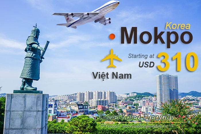 Đặt vé máy bay đi Mokpo (Hàn Quốc) giá rẻ