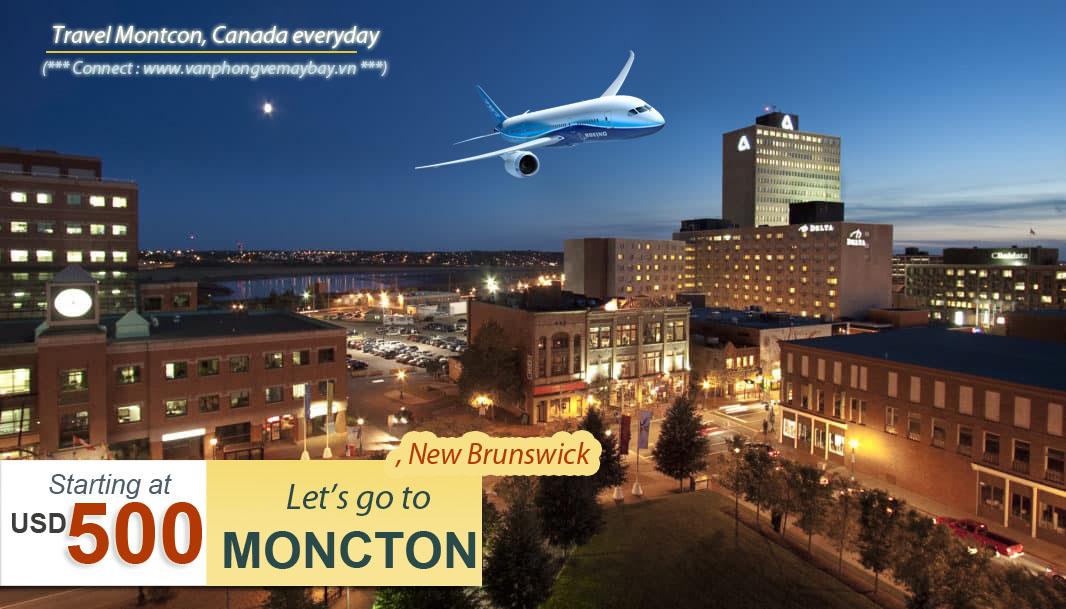 Vé máy bay đi Moncton giá rẻ