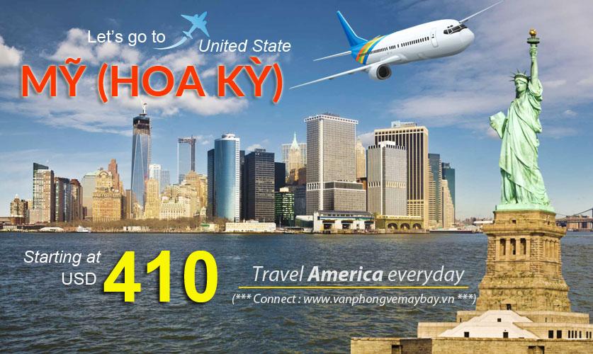 Đặt vé máy bay đi Mỹ (USA) giá rẻ
