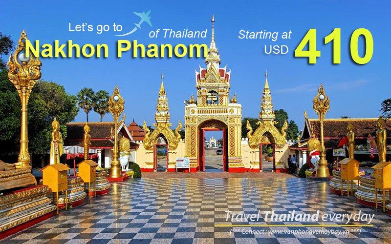 Đặt vé máy bay đi Nakhon Phanom (Thái Lan) giá rẻ
